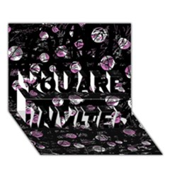 Purple soul YOU ARE INVITED 3D Greeting Card (7x5)