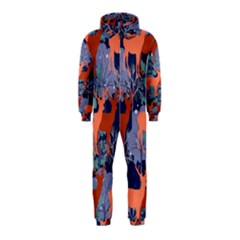 Deer In The Winter Forest Hooded Jumpsuit (kids)