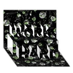 Green soul  WORK HARD 3D Greeting Card (7x5)