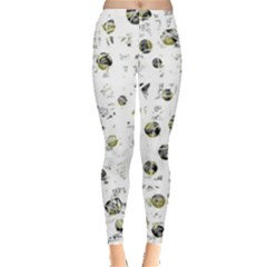 White and yellow soul Leggings
