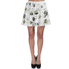 White and yellow soul Skater Skirt