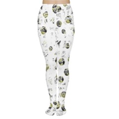White and yellow soul Women s Tights