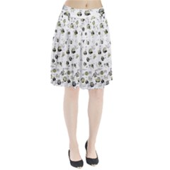 White and yellow soul Pleated Skirt