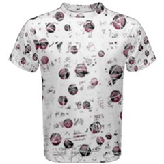 White and red soul Men s Cotton Tee