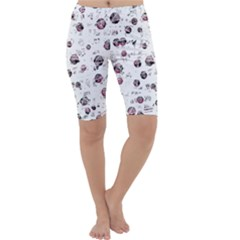 White and red soul Cropped Leggings