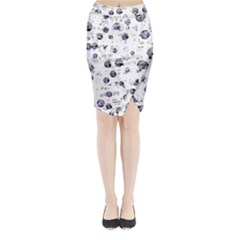 White and blue soul Midi Wrap Pencil Skirt