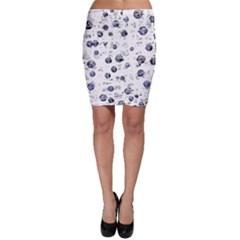 White and deep blue soul Bodycon Skirt