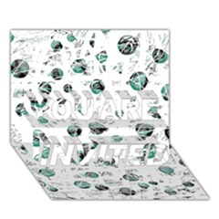 White and green soul YOU ARE INVITED 3D Greeting Card (7x5)