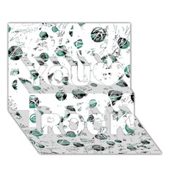 White and green soul You Rock 3D Greeting Card (7x5)