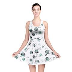 White and green soul Reversible Skater Dress