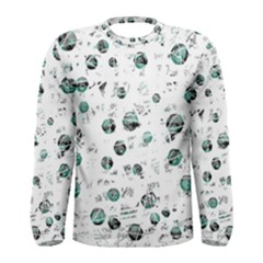 White and green soul Men s Long Sleeve Tee