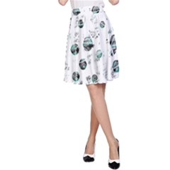 White And Green Soul A Line Skirt