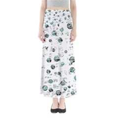White and green soul Maxi Skirts