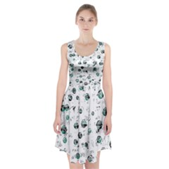 White and green soul Racerback Midi Dress