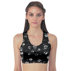 Black and gray soul Sports Bra