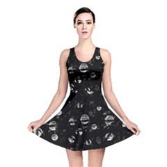 Black and gray soul Reversible Skater Dress