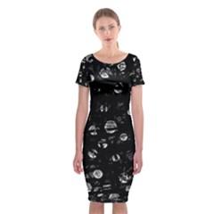 Black and gray soul Classic Short Sleeve Midi Dress
