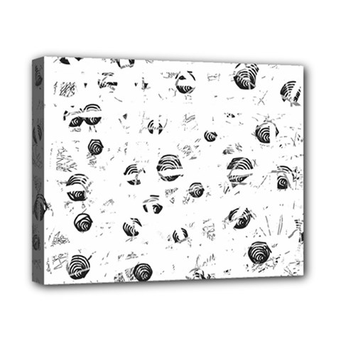 White and gray soul Canvas 10  x 8