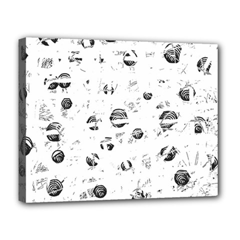 White and gray soul Canvas 14  x 11