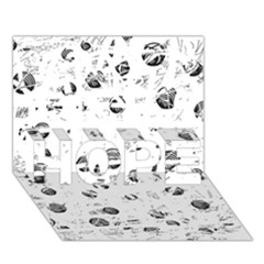 White and gray soul HOPE 3D Greeting Card (7x5)