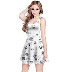 White and gray soul Reversible Sleeveless Dress