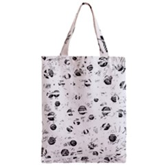 White and gray soul Zipper Classic Tote Bag