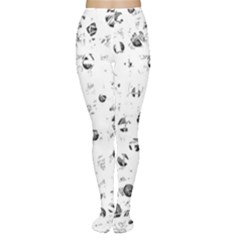 White and gray soul Women s Tights
