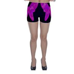 Purple butterfly Skinny Shorts