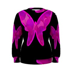 Purple butterfly Women s Sweatshirt