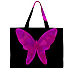 Purple butterfly Zipper Mini Tote Bag