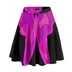Purple butterfly High Waist Skirt