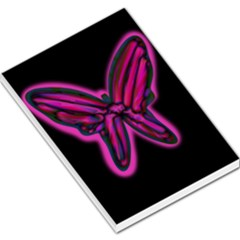 Purple neon butterfly Large Memo Pads