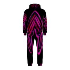 Purple neon butterfly Hooded Jumpsuit (Kids)