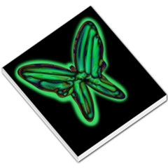 Green neon butterfly Small Memo Pads