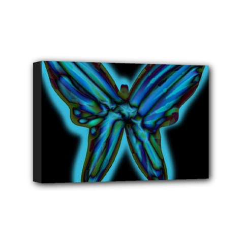 Blue butterfly Mini Canvas 6  x 4