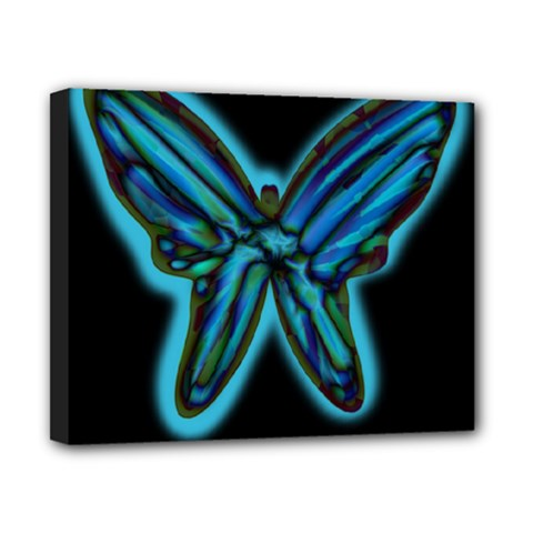 Blue butterfly Canvas 10  x 8