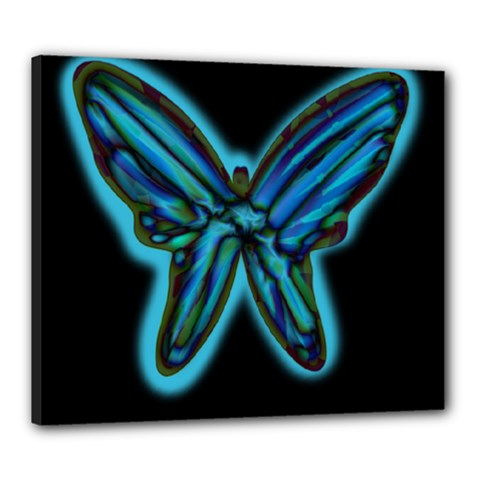 Blue butterfly Canvas 24  x 20