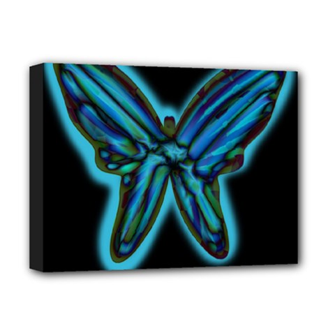 Blue butterfly Deluxe Canvas 16  x 12