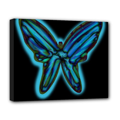 Blue butterfly Deluxe Canvas 20  x 16