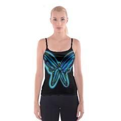 Blue butterfly Spaghetti Strap Top