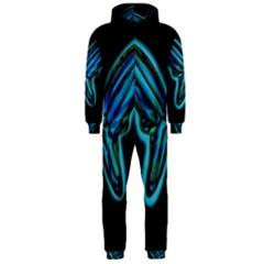 Blue butterfly Hooded Jumpsuit (Men)
