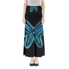 Blue butterfly Maxi Skirts