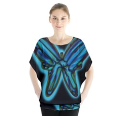 Blue Butterfly Blouse