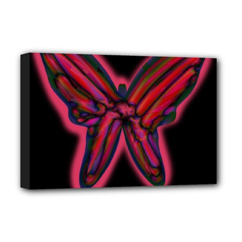 Red butterfly Deluxe Canvas 18  x 12