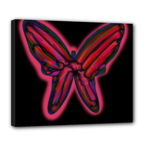 Red butterfly Deluxe Canvas 24  x 20