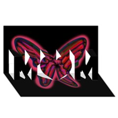 Red butterfly MOM 3D Greeting Card (8x4)