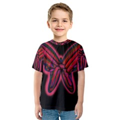Red butterfly Kid s Sport Mesh Tee