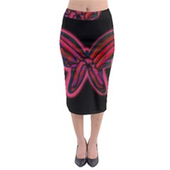Red butterfly Midi Pencil Skirt