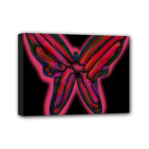 Red butterfly Mini Canvas 7  x 5