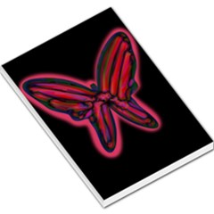Red butterfly Large Memo Pads